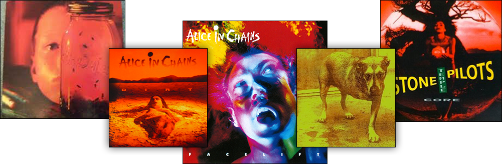 Alice in Chains and Stone Temeple Pilots hit albums